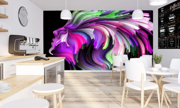 Purple Fibre Portrait Wallpaper Mural