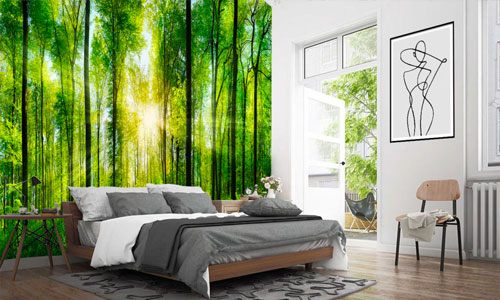 shop by room - bedroom wallpaper murals