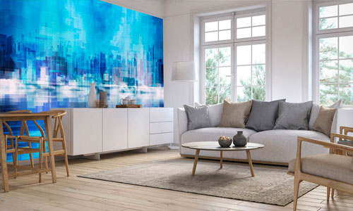 shop by room - living room wallpaper murals