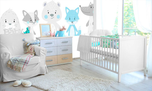shop by room - nursery wallpaper murals