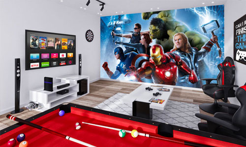 teen wallpaper murals ideal for gaming room and teenager bedrooms