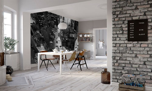 industrial style wallpaper murals - shop by style